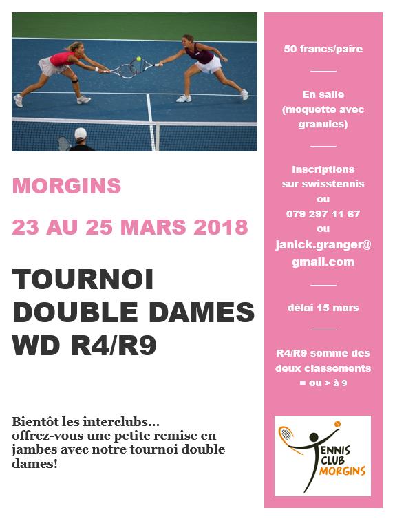 affiche double dames 2018