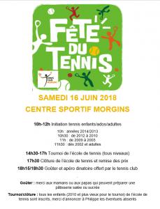 affiche fête du tennis 16 juin 2018
